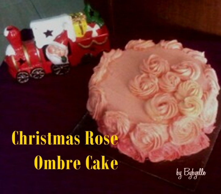 Christmas Rose Ombre Cake bybyelle 2015