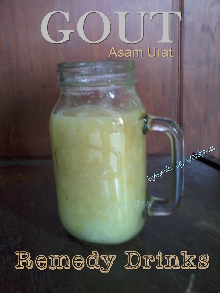 Gout Asam Urat Treatment Remedy drinks masonjar bybyelle-wordpress
